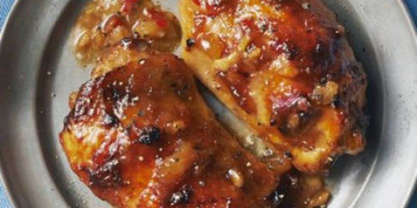 Glazed chicken breast with Raydale Chutney