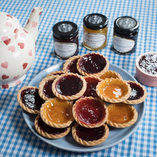Jam tart selection