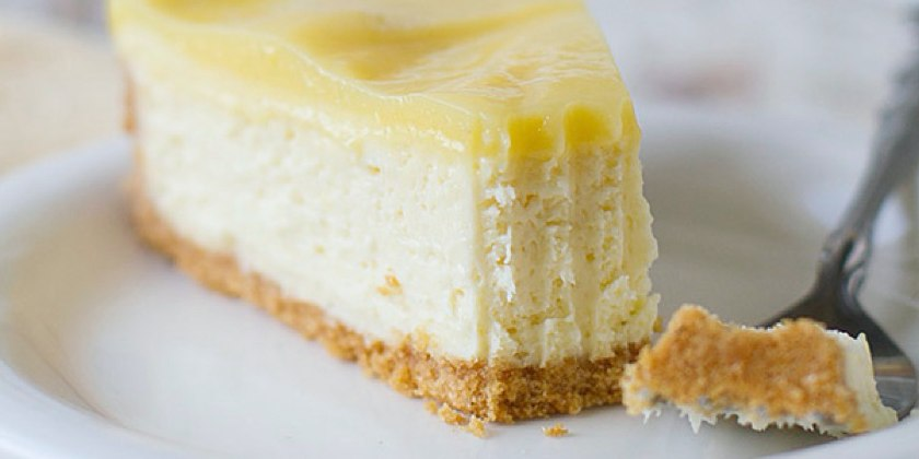 Lemon and Passion Fruit Curd Cheesecake